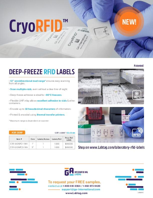 CryoRFID™ Labels