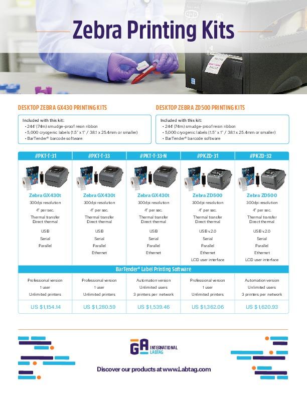 ZEBRA Printing Kits