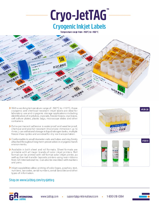 Cryo-JetTAG™ Labels