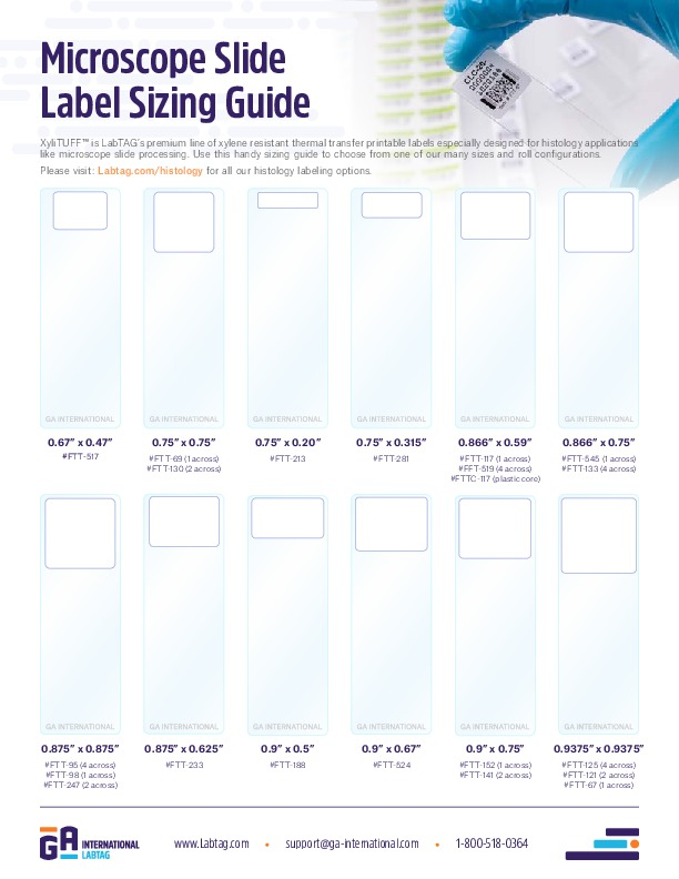Microscope Slide Label Sizing Guide