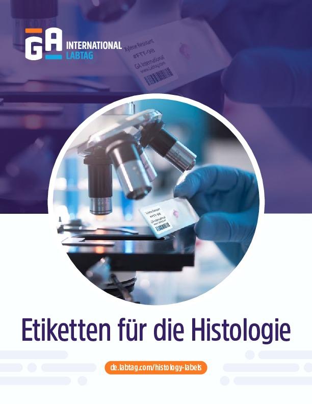 Etiketten für die Histologie