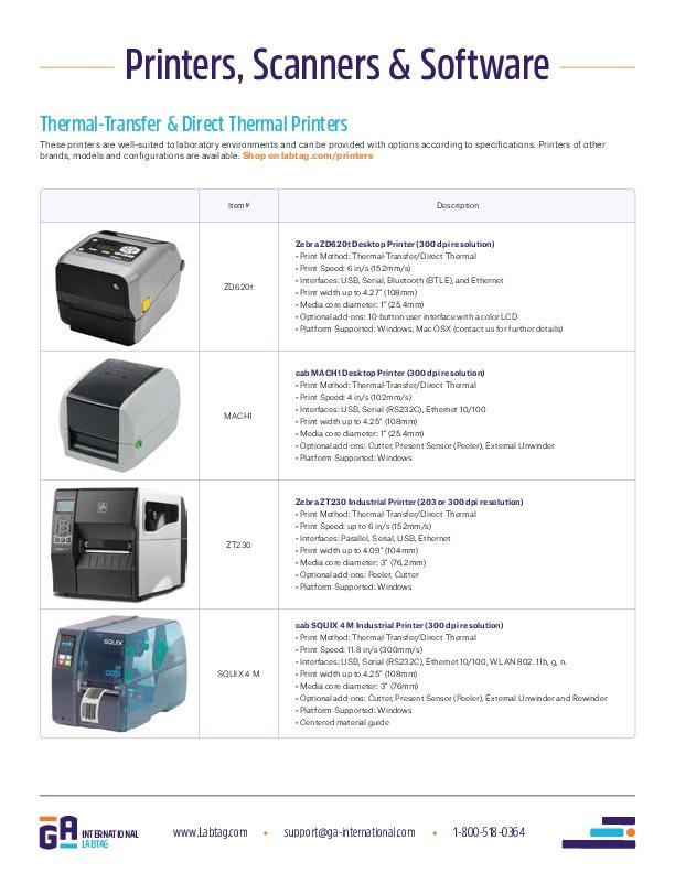 Drucker, Scanner und Software