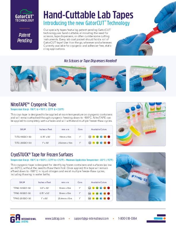 Laborbänder mit GatorCUT-Technologie